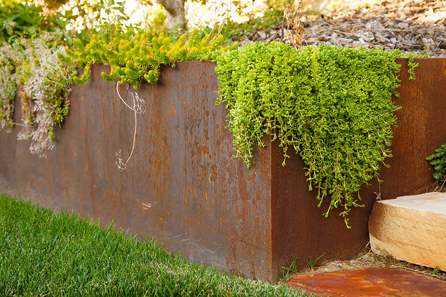 Rusted Steel Landscaping And Plant Box